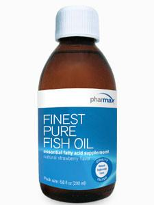 Finest Pure Fish Oil - Natural Strawberry Flavor - 6.8 fl oz