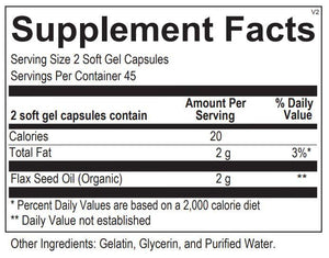 Flax Seed Oil - 90 Capsules Default Category Ortho Molecular