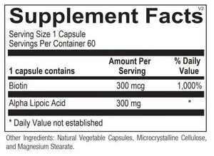 Lipoic Acid 300mg - 60 Capsules Default Category Ortho Molecular
