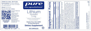 Lithium (Orotate) 5mg Default Category Pure Encapsulations
