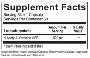 N-Acetyl Cysteine - 60 Capsules Default Category Ortho Molecular