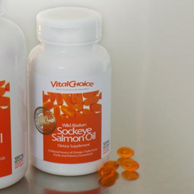 Wild Alaskan Sockeye Salmon Oil, 1000mg - 90 Softgels