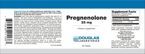 Pregnenolone (25 mg) - 60 Tablets Default Category Douglas Labs