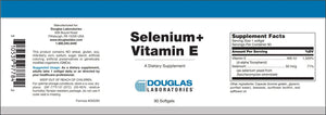 Selenium+Vit E - 90 Softgels Default Category Douglas Labs