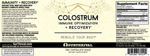 Colostrum - 180 Capsules Default Category SurThrival