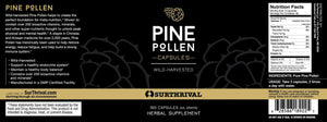 Pine Pollen - 180 Capsules Default Category SurThrival