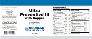 Ultra Preventive® III with Copper - 180 Tablets Default Category Douglas Labs