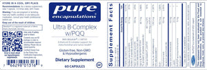 Ultra B-Complex w/PQQ - 60 Capsules Default Category Pure Encapsulations