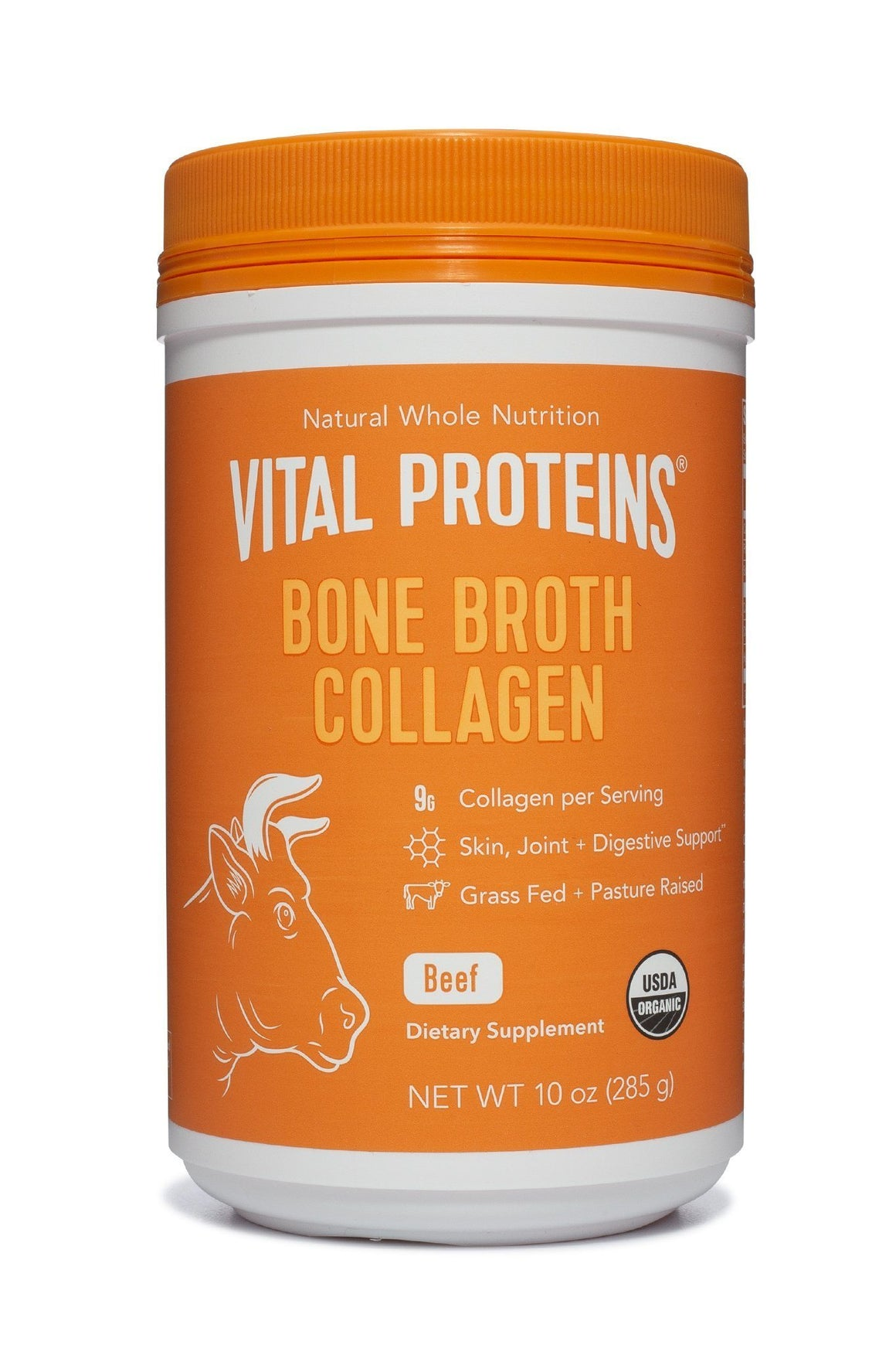 Organic, Grass-Fed Beef Bone Broth Collagen - 10 oz