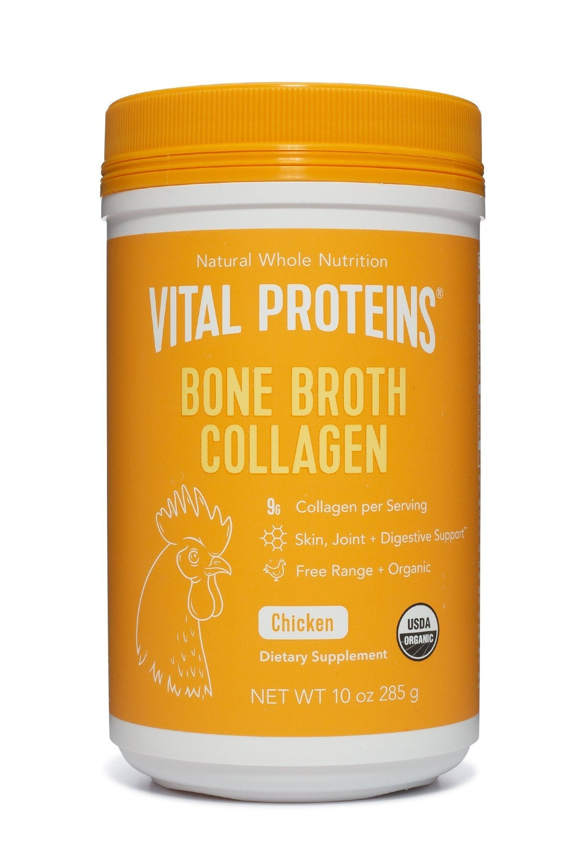 Organic, Free Range Chicken Bone Broth Collagen - 10 oz.