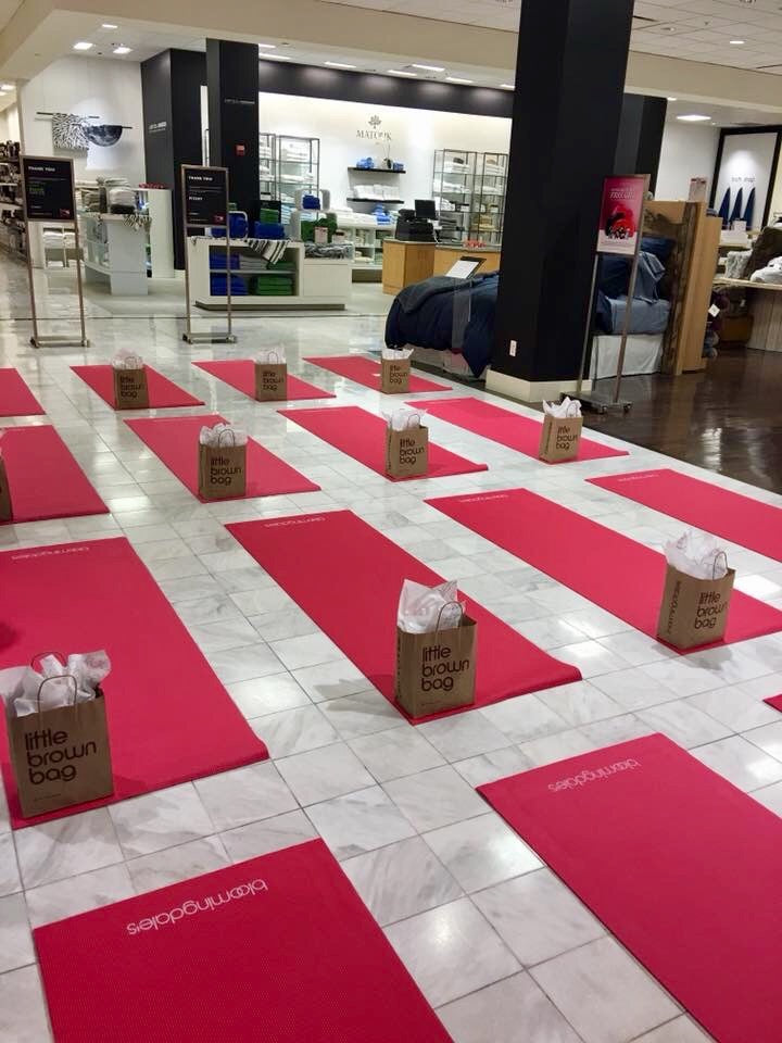 Bloomingdales Yoga for breast cancer, karma for a cure blog