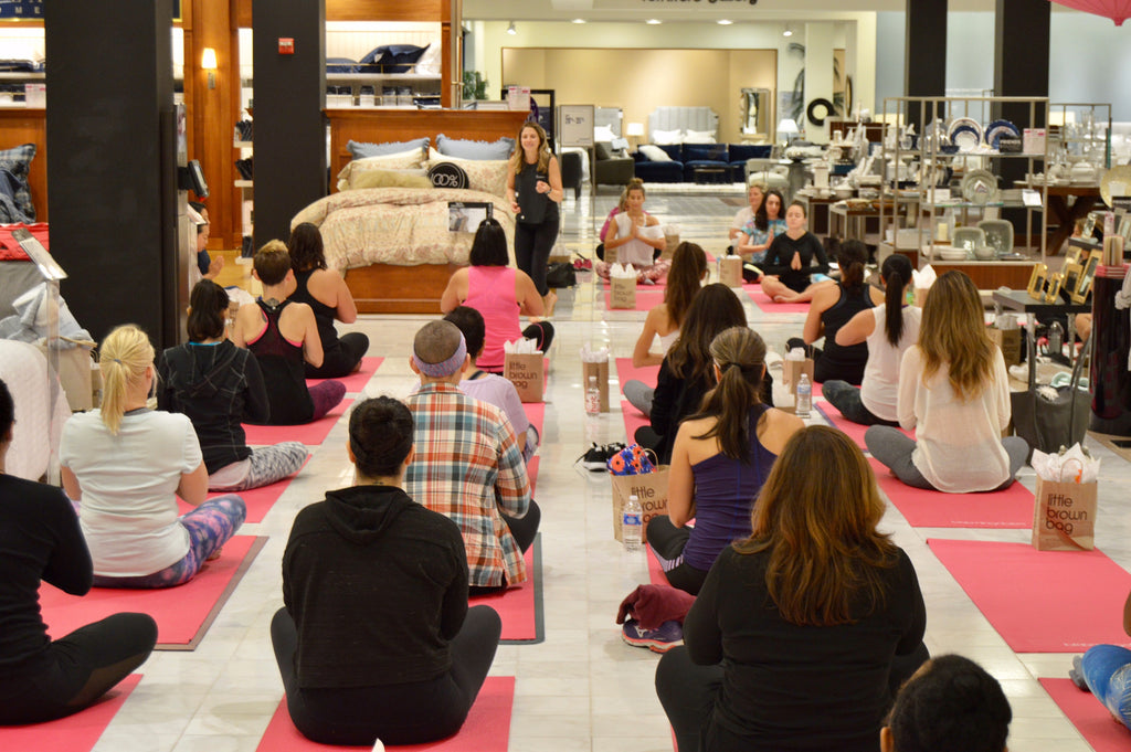 Bloomingdales Yoga for Breast Cancer Awareness Month
