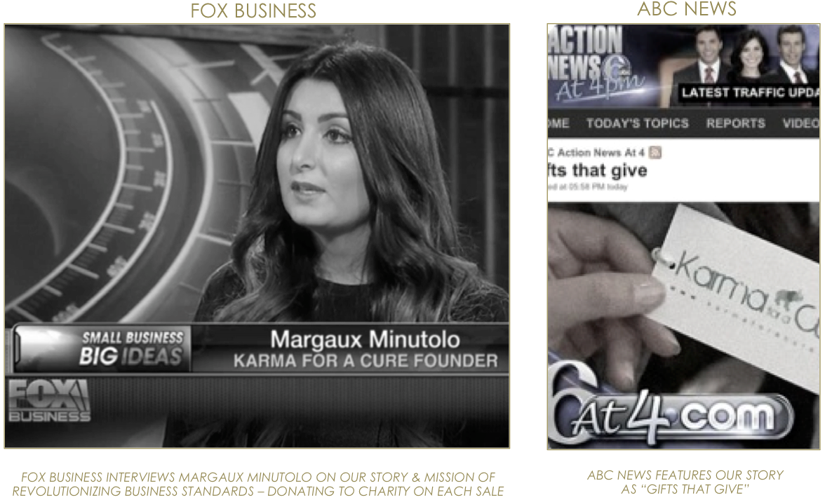 KARMA for a cure Margaux Minutolo FOX Business & ABC News