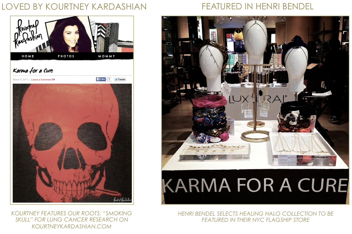 KARMA for a cure Kourtney Kardashian & Henri Bendel