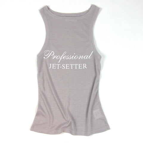 Professional Jet-Setter Tank Top made with French Terry Fabric - KARMA for a cure