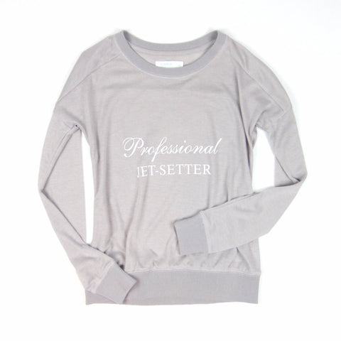 """Professional Jet-Setter Sweater"" - KARMA for a cure - 2"