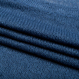 Denim Blue Solid Knit