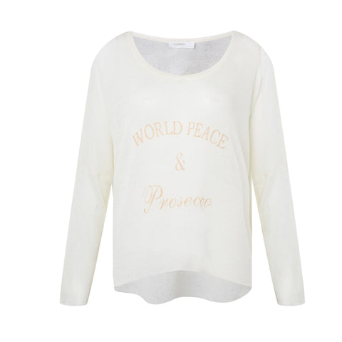World Peace & Prosecco Knit Sweater - KARMA for a cure - 1