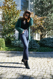 Jet-Set Fringe Wrap Jacket - Emerald