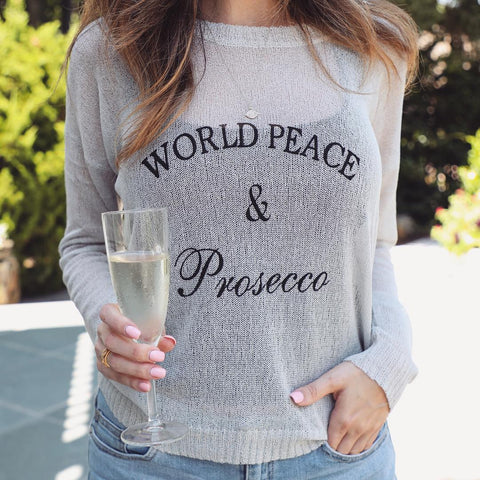 World Peace & Prosecco Knit - Platinum