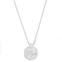 "Sterling Silver/14K Gold ""Hope"" Disc for SAVING INNOCENCE"