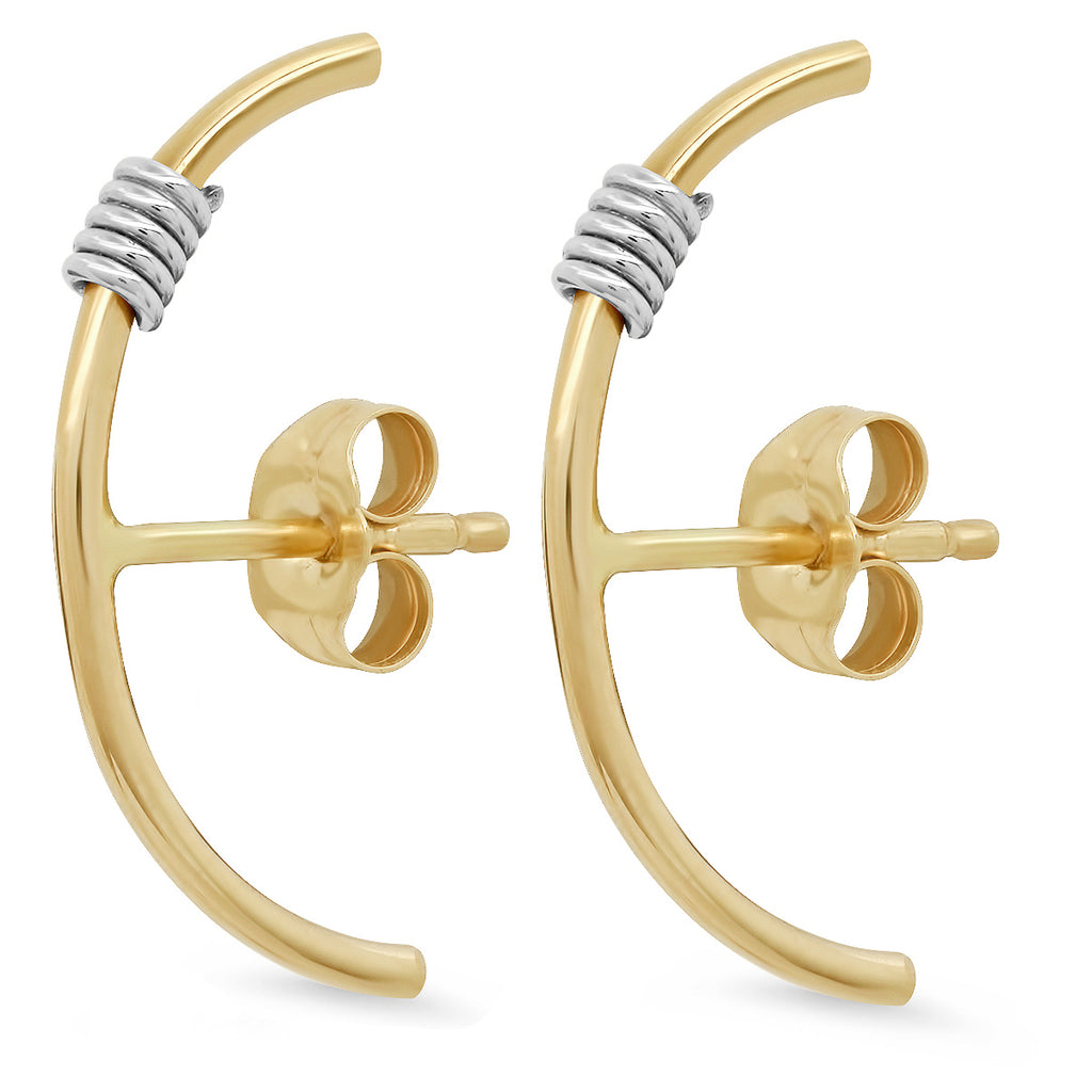 """Wrap Me Up"" 14K Gold Front Ear Cuffs"