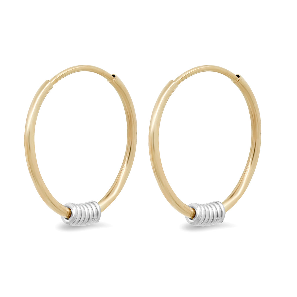 """Wrap Me Up"" 14K Gold Small Endless Hoop Earrings"