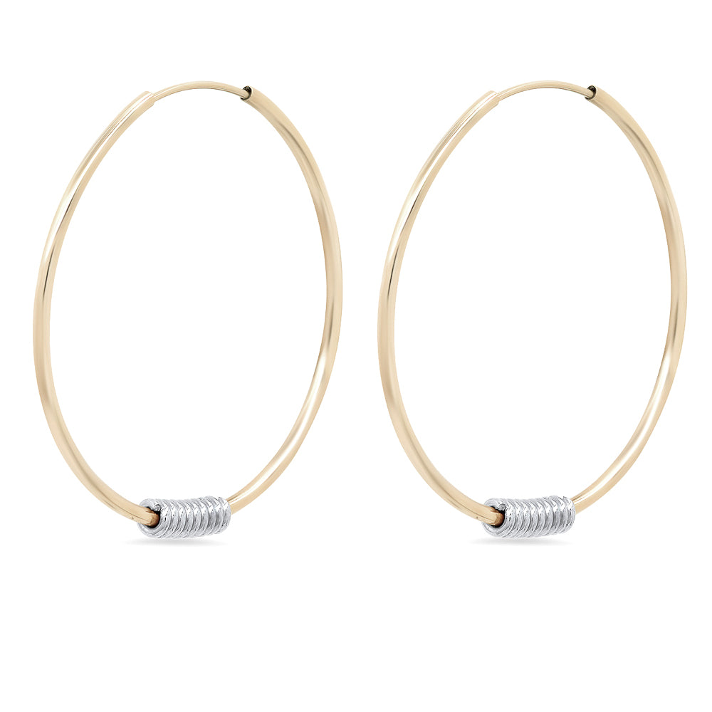 """Wrap Me Up"" Large Endless Hoop Earrings"