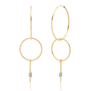"""Wrap Me Up"" 14K Gold Double Hoop Dagger earrings"