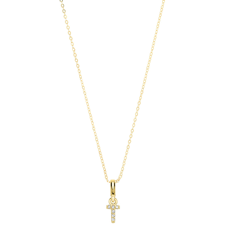 Pave Diamond 14K Gold Mini Initials