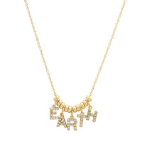 "14K Gold and Diamond ""Dancing"" EARTH Necklace"