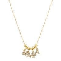 "14K Gold and Diamond ""Dancing"" MAMA Necklace"