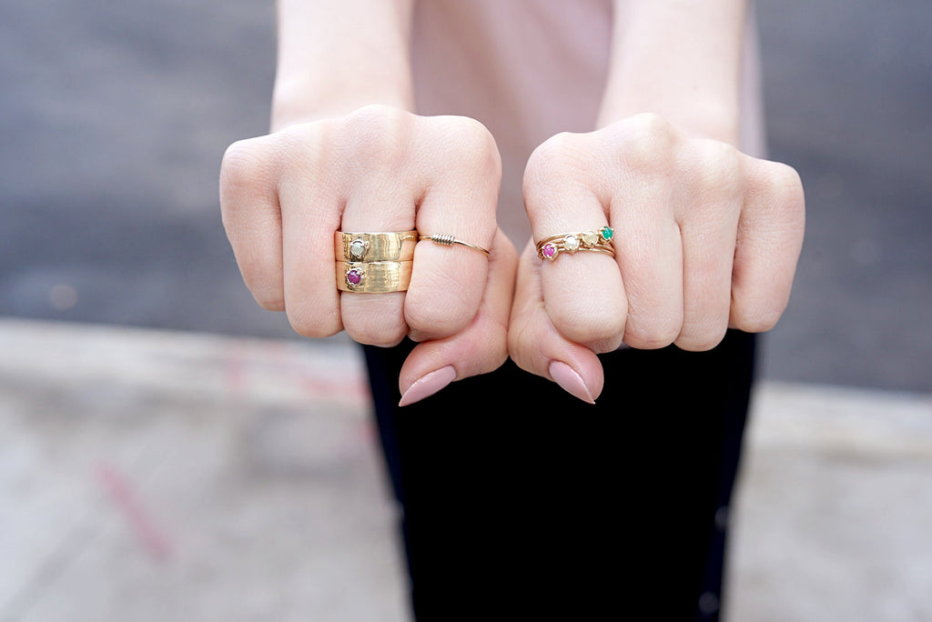 """Claw"" 3 Prong Stackable Ring"