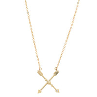 Signature Crossed Arrow with Diamond Friendship Necklace