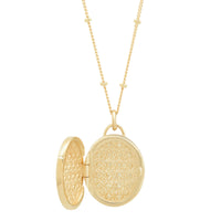 "Oval 14K Gold ""Love Locket"" with Diamonds"
