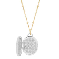 "Sterling Silver Oval ""Love Locket"" with Diamonds or Sapphires"