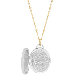 "Sterling Oval ""Love Locket"""