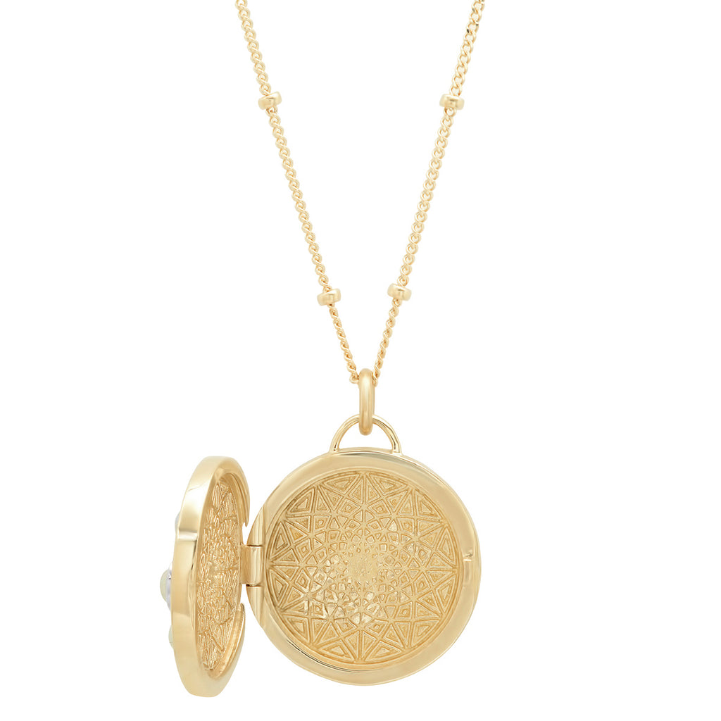 "14K Gold Round ""Love Locket"""