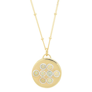 "Round 14K Gold ""Love Locket"" with Ethiopian Opals"