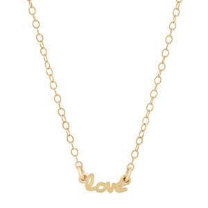 "Signature 14K Gold ""Use your Words"" Necklaces"