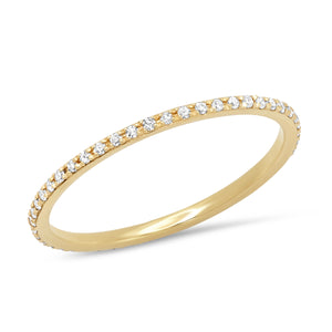 Skinny Diamond Eternity Band in 14K Rose, Yellow, White Gold