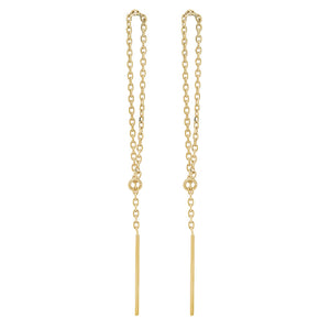 14K Gold Loop Threader Earrings