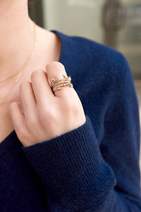 """Wrap Me Up"" 14K Gold Stackable Ring"