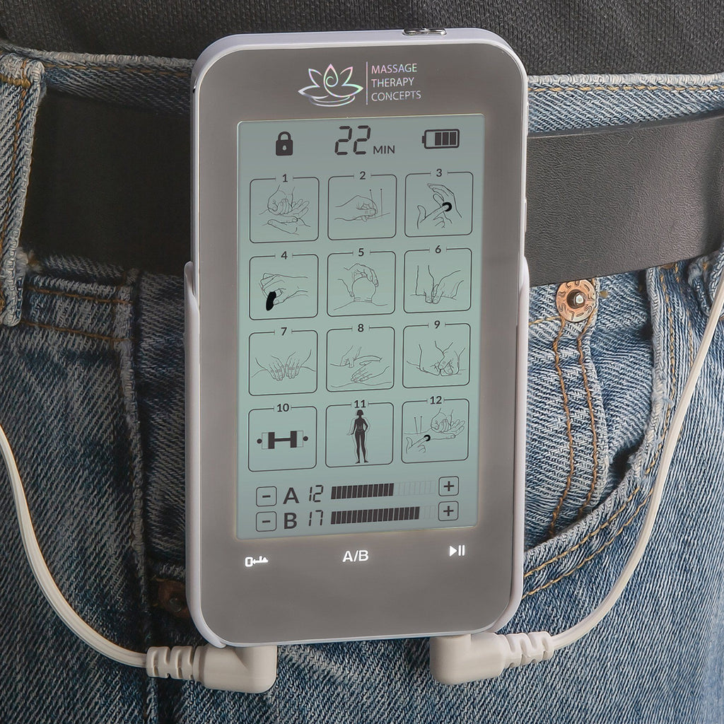 TENS and EMS Unit Belt Clip - Massage Therapy Concepts
