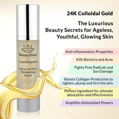 Image of Luminance - Advanced Skin Revitalizing Serum with Collagen, Caviar, Vitamin C, Kelp, Omega 3, DMAE and Aloe Vera, Hyaluronic Acid