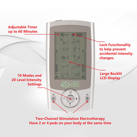 Image of Mini TENS Unit, e stim device, electrotherapy