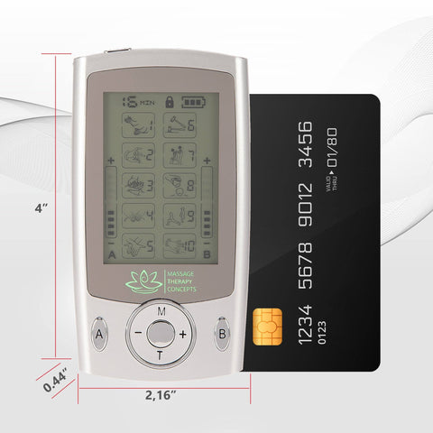 Image of mini e stim, TENS Unit, electrotherapy, EMS device, electro unit