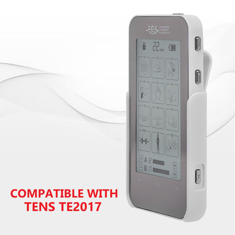 Image of TENS Unit, Pain Relief, EMS Machine, E Stim, electric stimulation device, belt clip