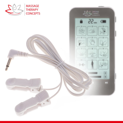 TENS Unit, Pain Relief, EMS Machine, E Stim, electric stimulation device, ear stimulator, ear clip stimulator