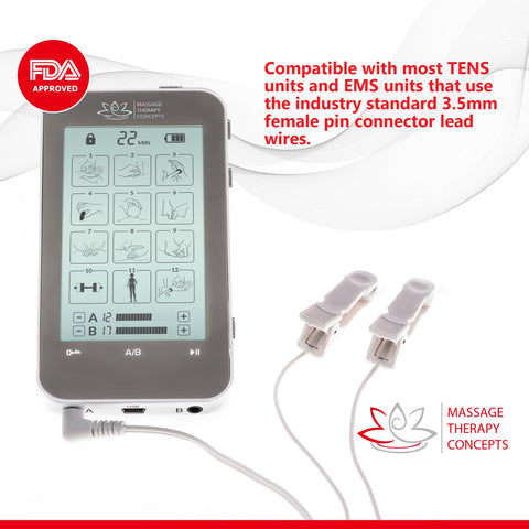 Image of TENS Unit, Pain Relief, EMS Machine, E Stim, electric stimulation device, ear stimulator, ear clip stimulator